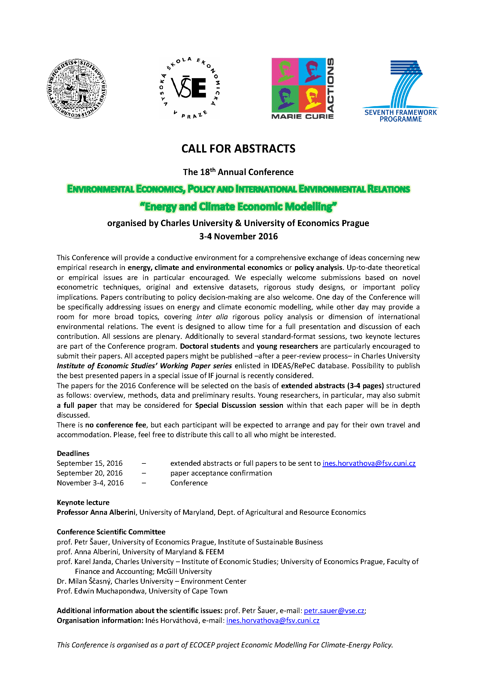 call abstracts 2016